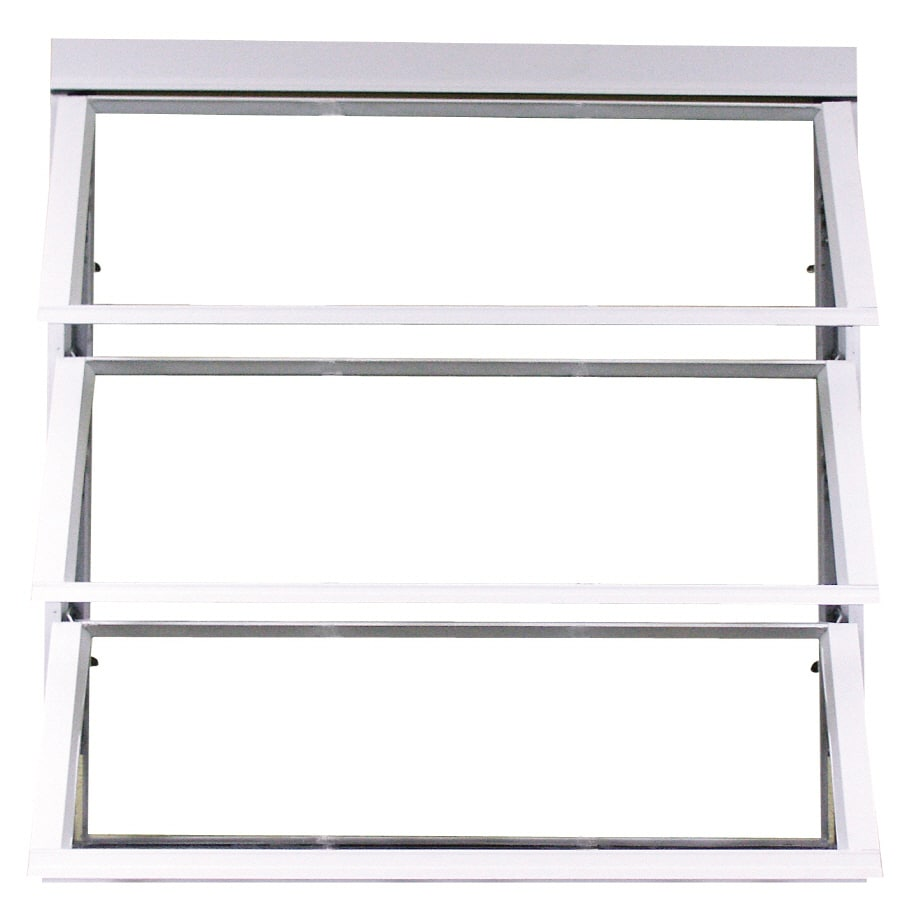 West Palm 800 Series Horizontal Aluminum Single Pane Double Strength Replacement Egress Awning Window (Rough Opening: 38.75-in x 39.375-in; Actual: 37-in x 38.375-in)