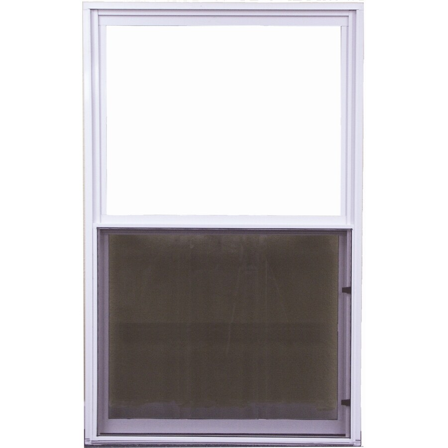 West Palm 500 Series Aluminum Single Pane Double Strength Replacement Single Hung Window (Rough Opening: 27.5-in x 39.375-in; Actual: 26.5-in x 38.375-in)