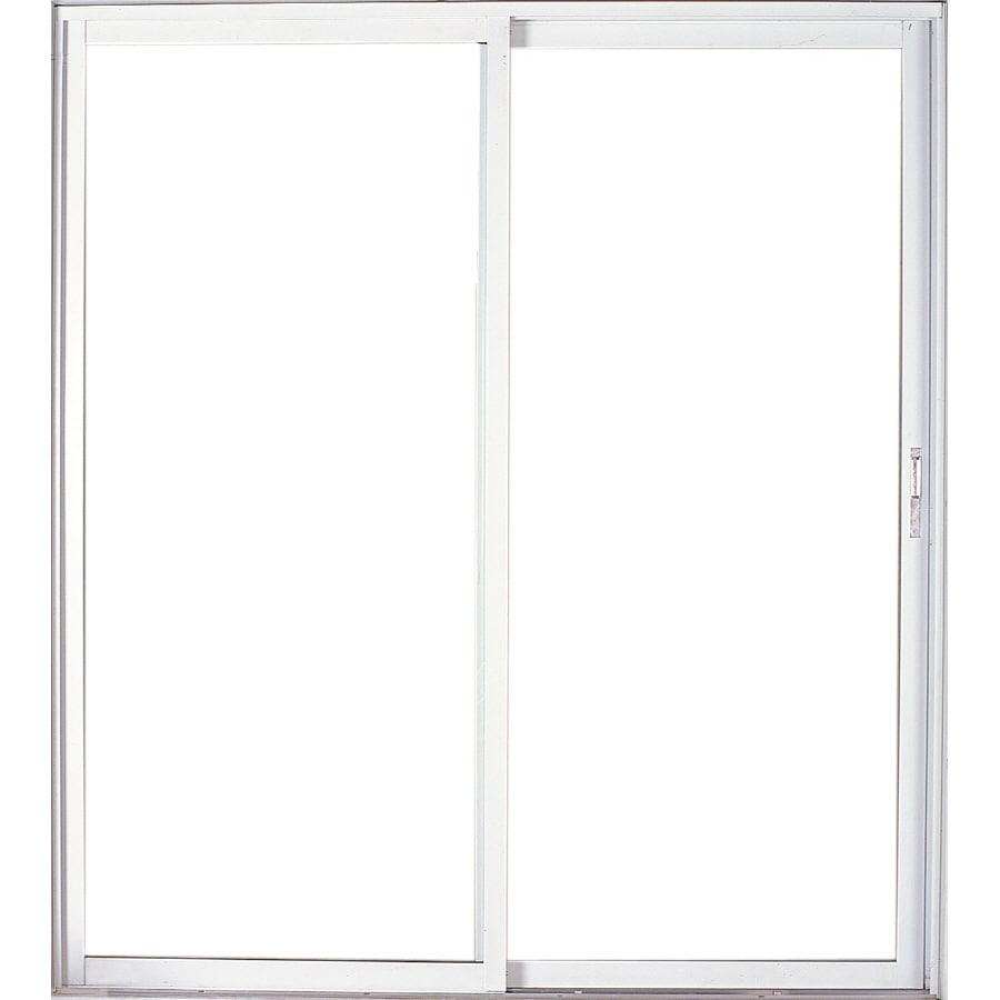 West Palm 72-in Clear Glass Bronze Aluminum Sliding Patio Door with Screen