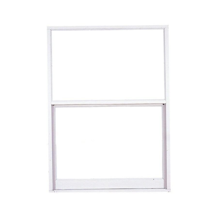 West Palm 2500 Series Aluminum Single Pane Double Strength Replacement Egress Single Hung Window (Rough Opening: 38-in x 27-in; Actual: 37-in x 26-in)