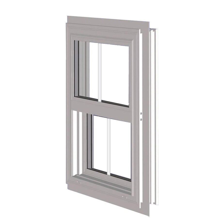 West Palm 10000 Series Vinyl Double Pane Double Strength Replacement Single Hung Window (Rough Opening: 37-in x 26-in; Actual: 36-in x 25-in)