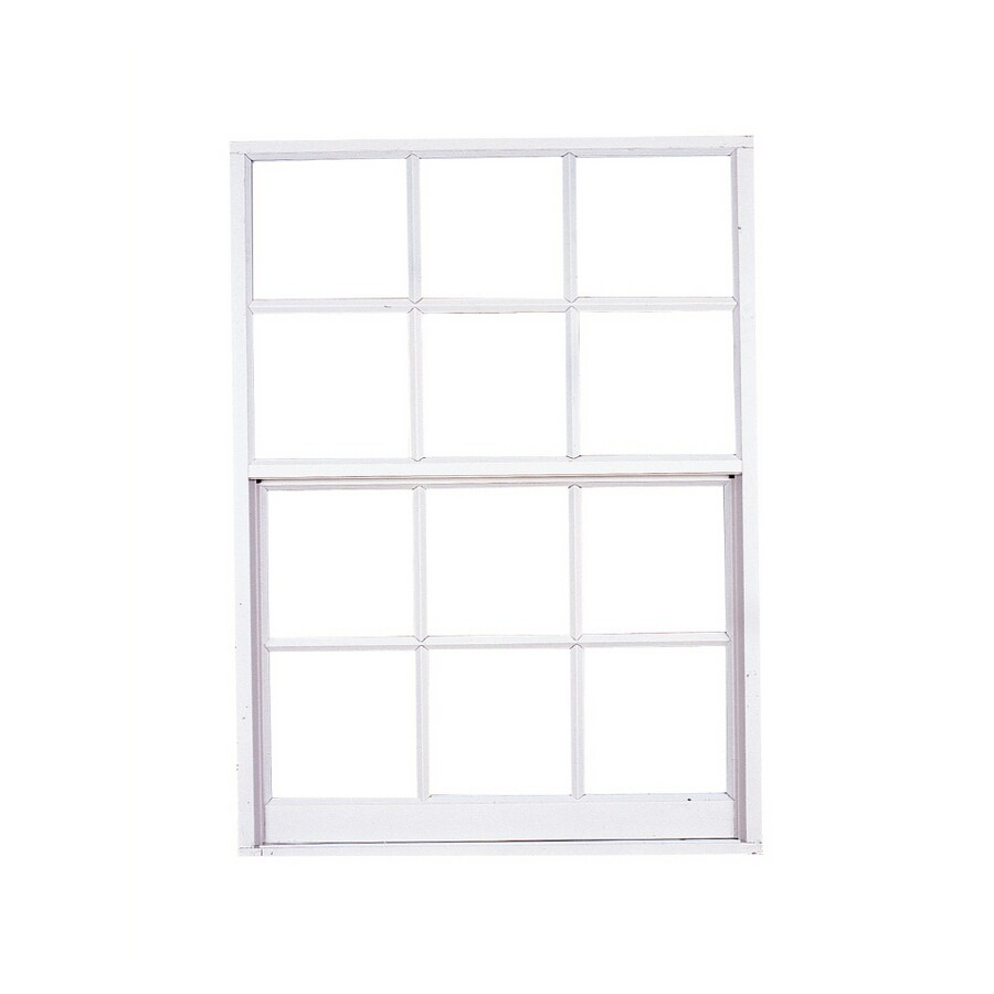 West Palm Aluminum Single Pane Double Strength Replacement Egress Single Hung Window (Rough Opening: 37-in x 63-in; Actual: 36-in x 62-in)