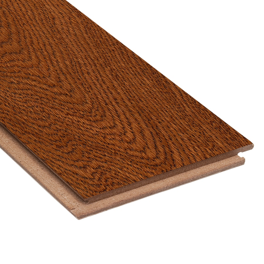 Project Source 5-in W Prefinished Oak Locking Hardwood Flooring (Brown)