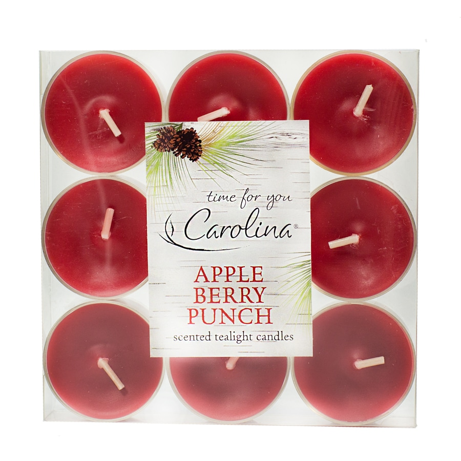 Carolina 9-Pack Apple Berry Punch Tea Lights