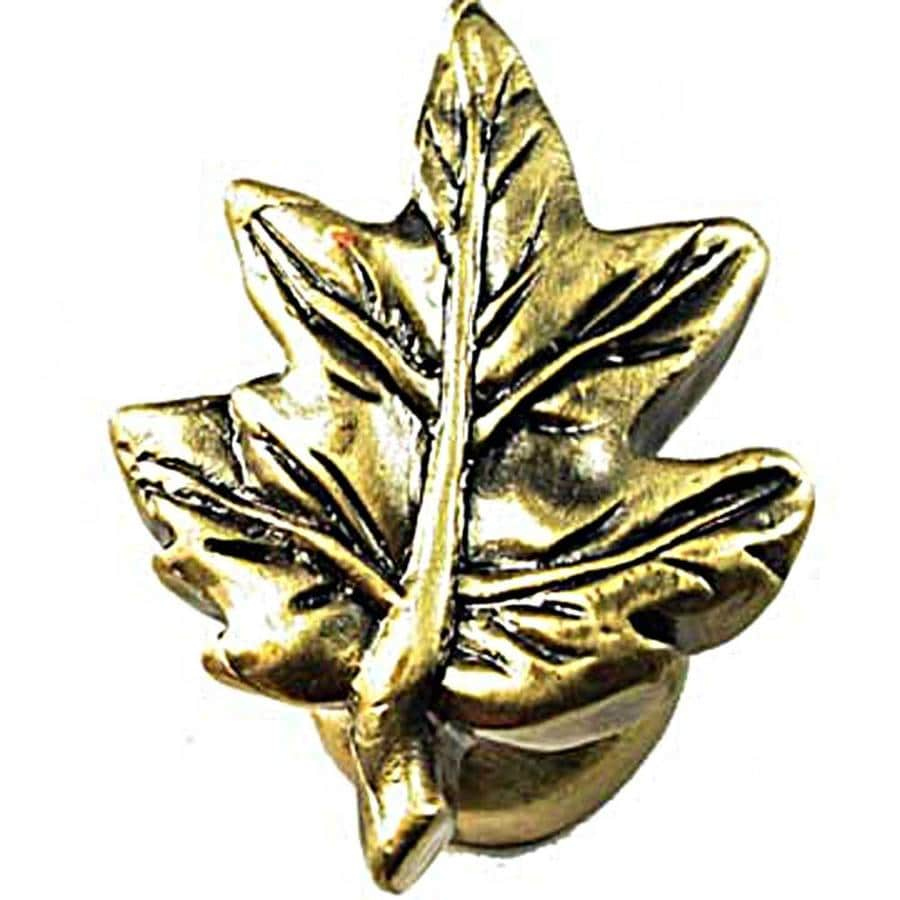 Sierra Antique Brass Round Cabinet Knob