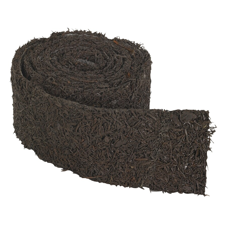 Perm-A-Mulch Rubber Mulch 8-ft Brown Landscape Edging Roll