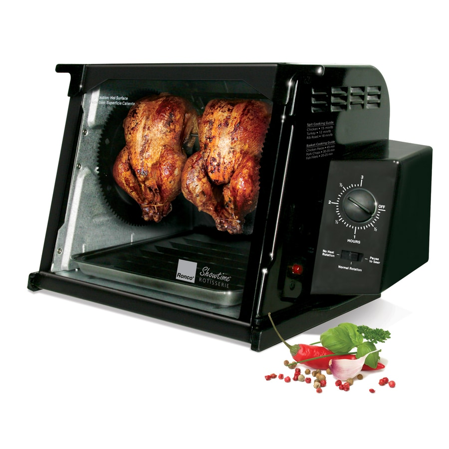 Shop Ronco 1 250 Watt Black Countertop Rotisserie Oven At