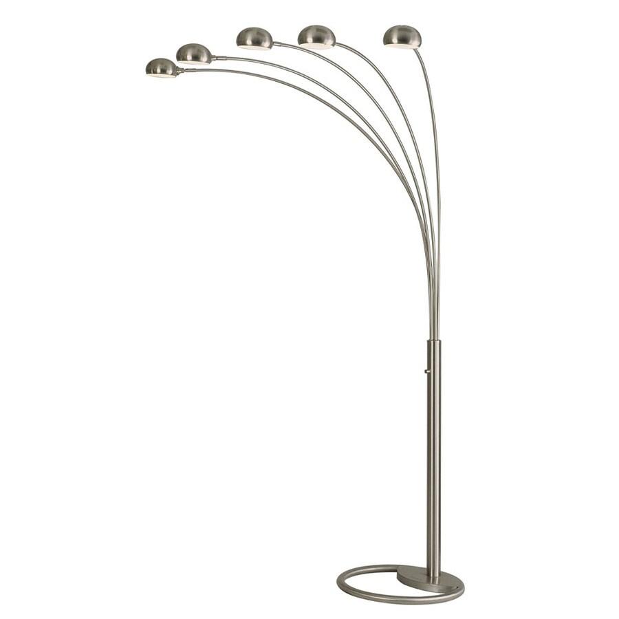 Nova Lighting 87-in Brushed Nickel Indoor Floor Lamp with Metal Shade
