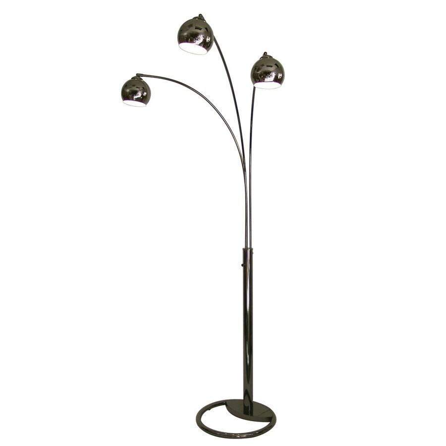 83 in black nickel indoor floor lamp with metal shade at. Black Bedroom Furniture Sets. Home Design Ideas
