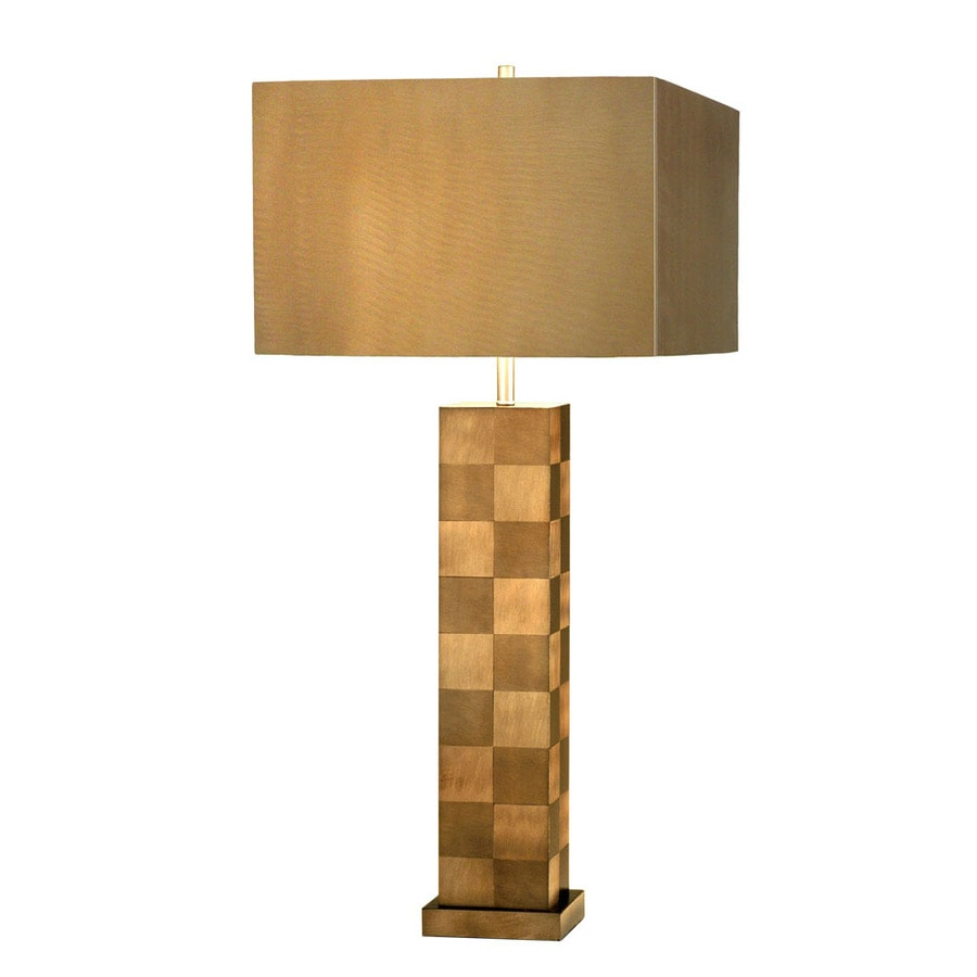 Nova Lighting 30-in 3-Way Root Beer Aluminum Indoor Table Lamp with Metal Shade