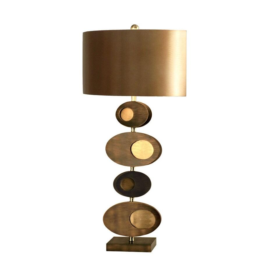 Nova Lighting 30-in 3-Way Root Beer and Bronze Aluminum Indoor Table Lamp with Metal Shade