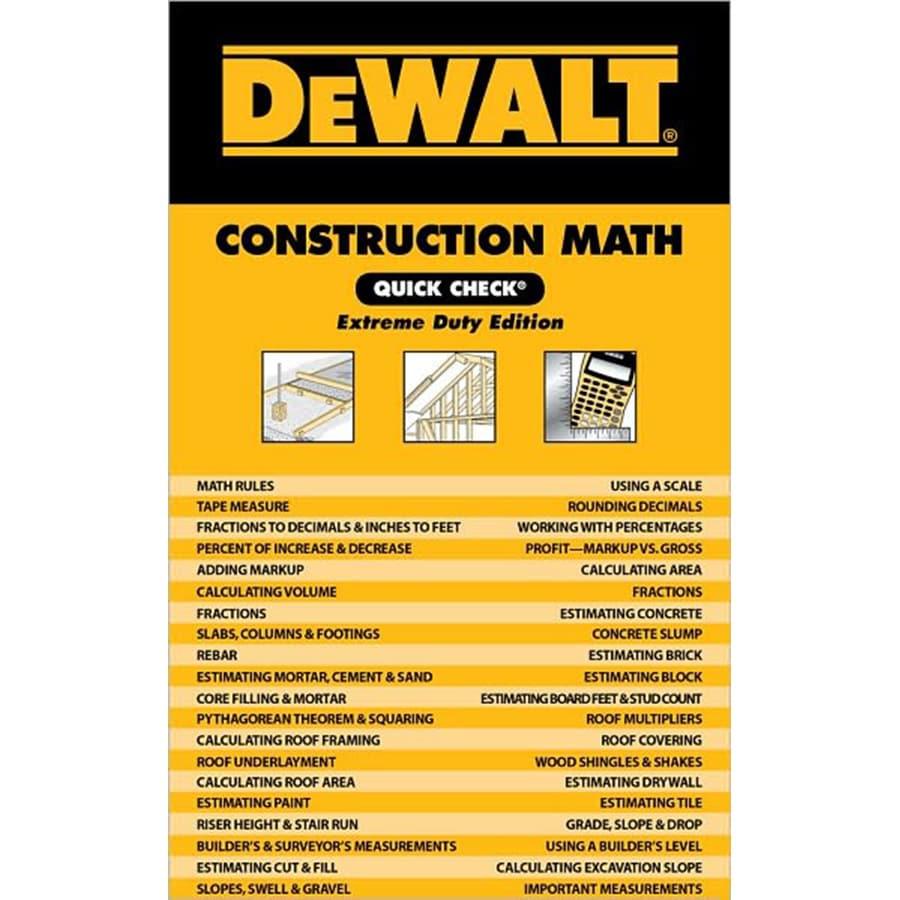 Dewalt Construction Math