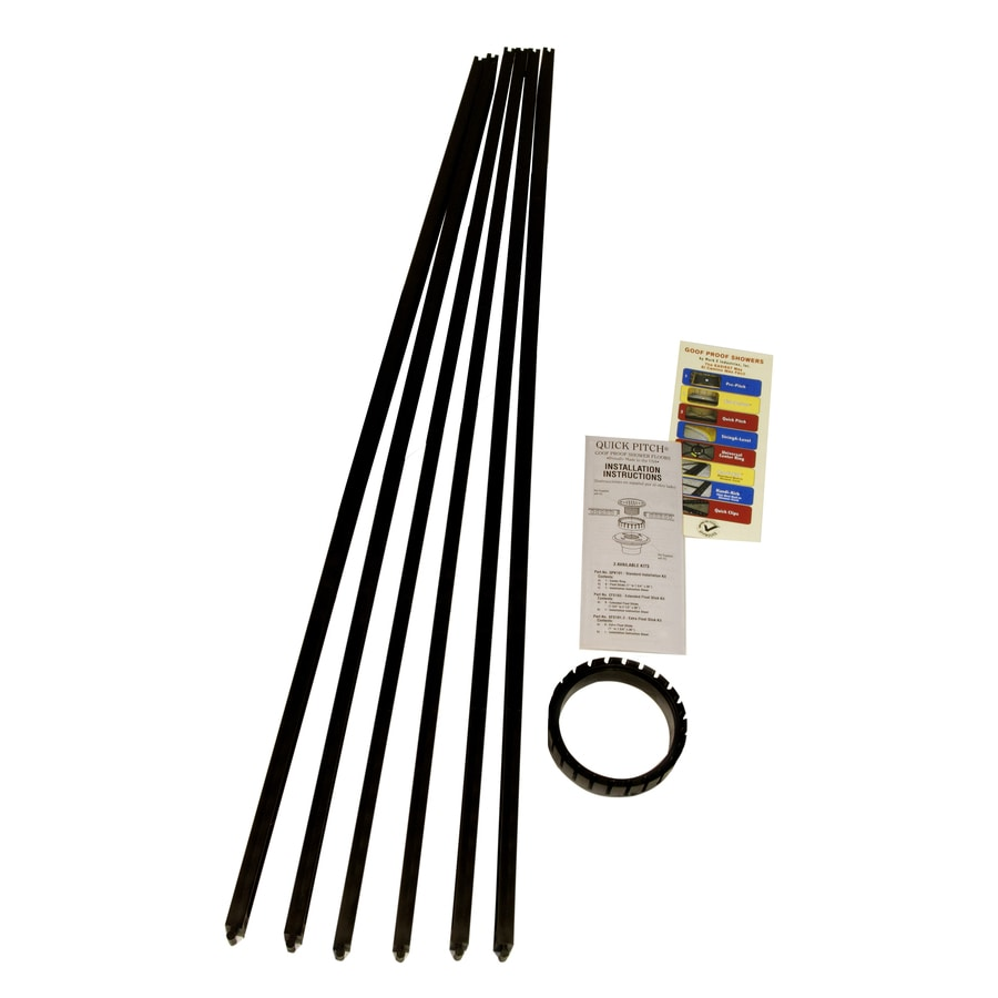 Shop Goof Proof Quick Pitch Black Polystyrene Shower Kit