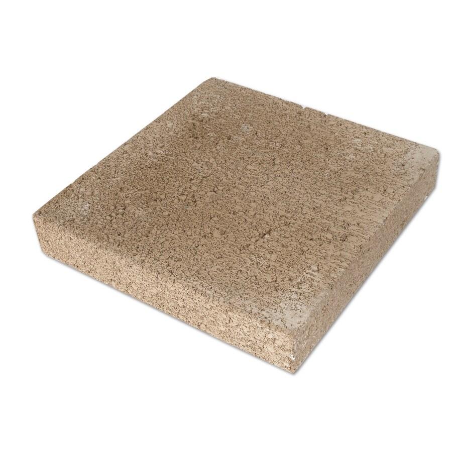 Tan Color Square Concrete Patio Stone (Common: 12-in x 12-in; Actual: 11.625-in x 11.625-in)