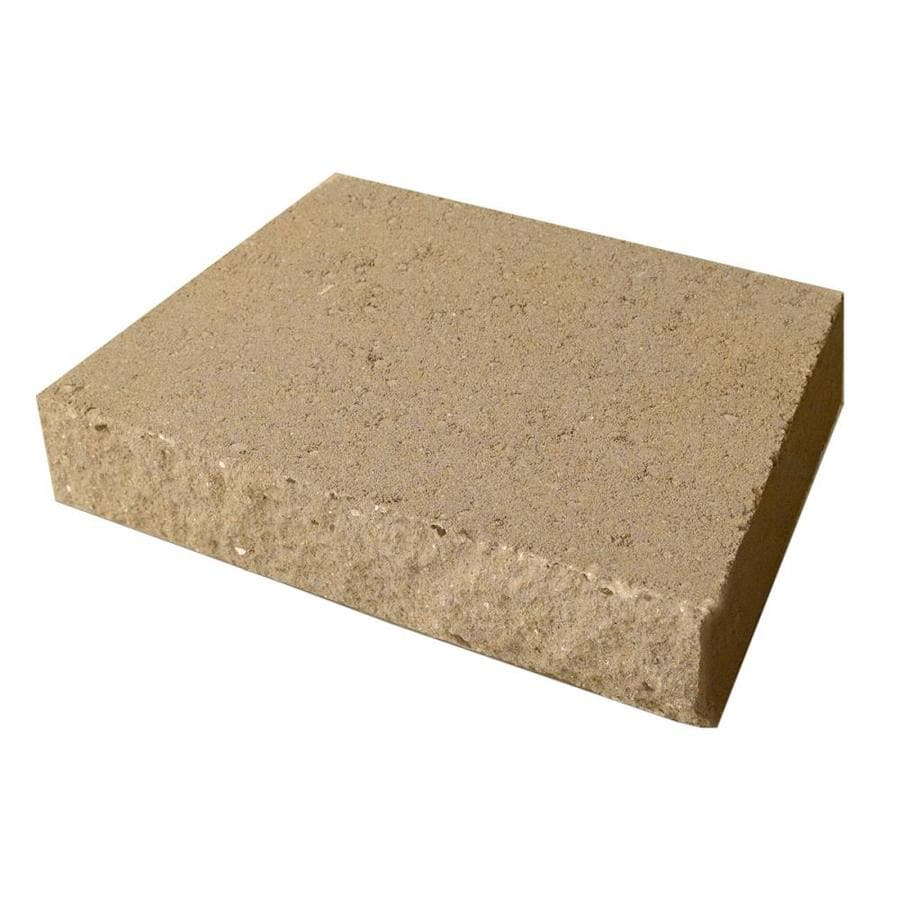 Tan in a Split Face Basic Concrete Retaining Wall Cap (Common: 16-in x 3-in; Actual: 16-in x 3-in)