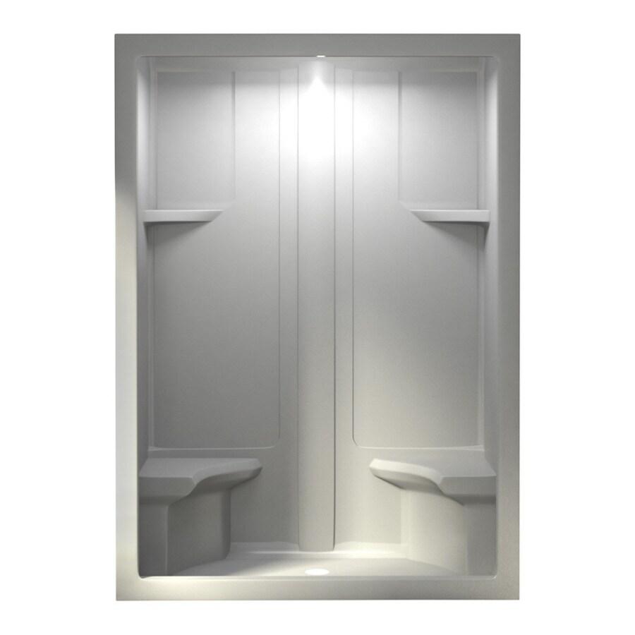Aqua Glass 60-in H x 90-in W x 35-in L White 1-Piece Shower