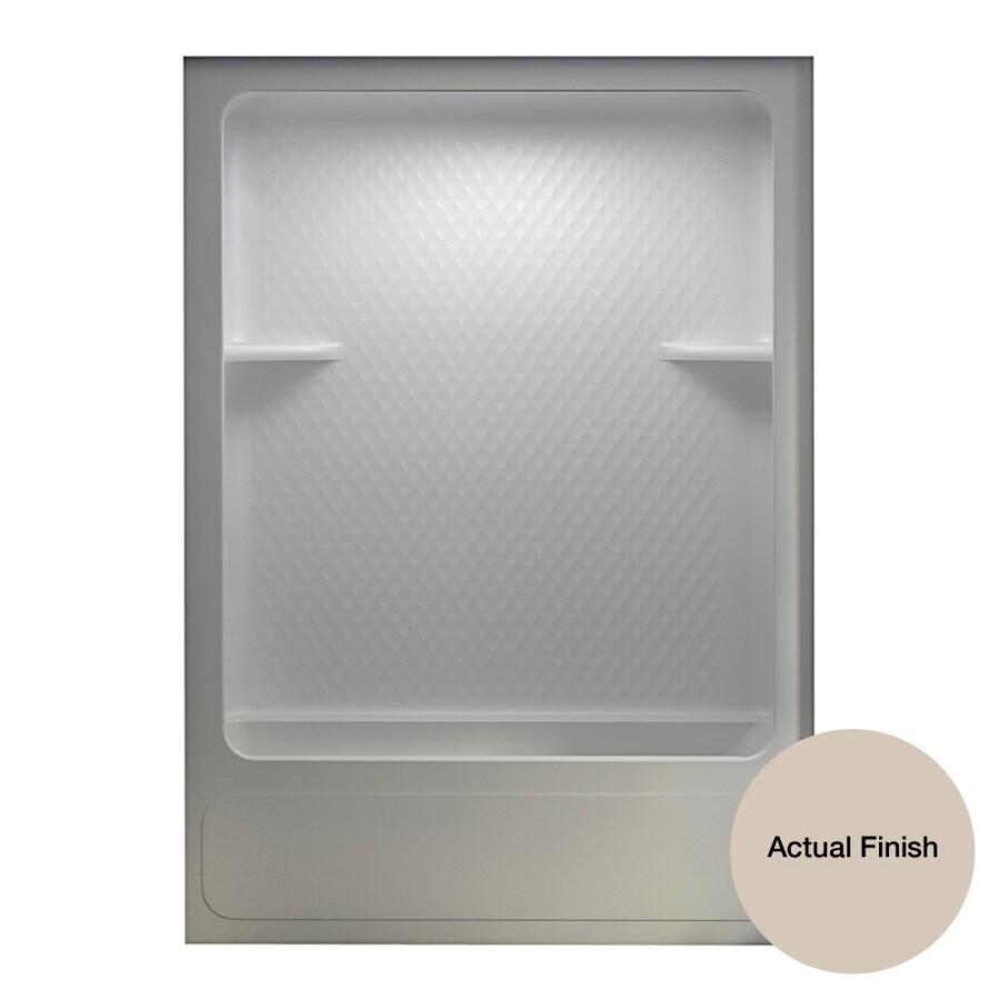 Aqua Glass 60-in H x 83-5/8-in W x 32-3/4-in L Dark Bone 1-Piece Shower with Bathtub