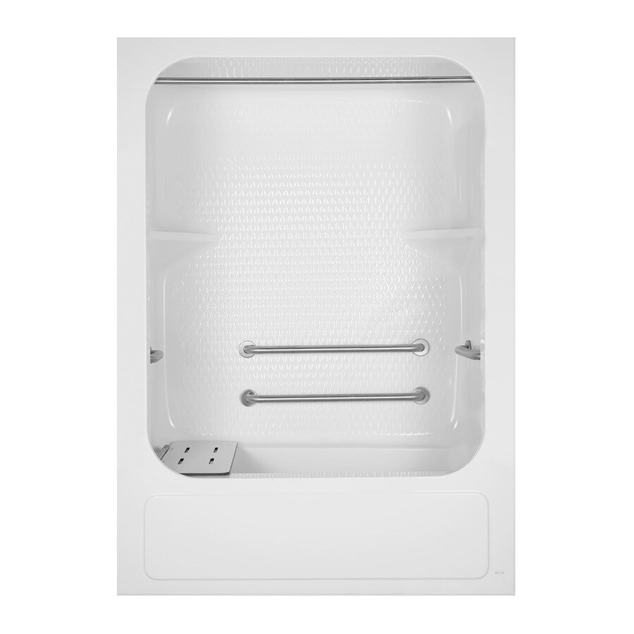 Aqua Glass 83-5/8-in H x 33-1/4-in W x 60-in L Special Care White 1-Piece Shower with Bathtub