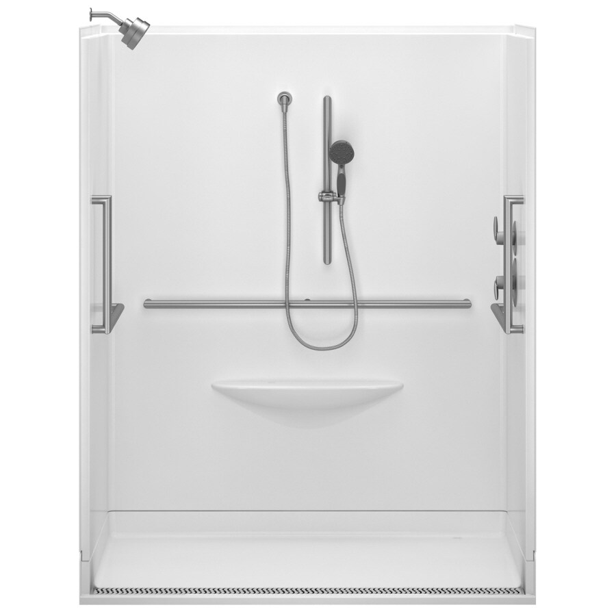 Delta Bright White Acrylic One-Piece Shower (Actual: 78.75-in x 39-in x 63-in)