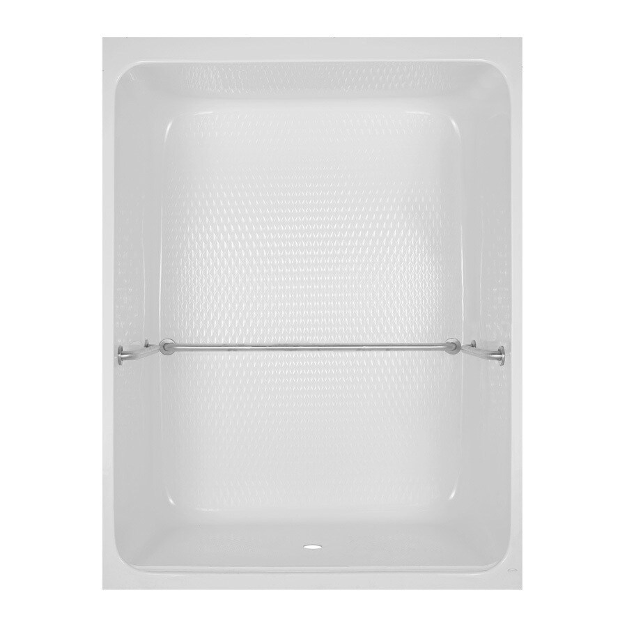 Aqua Glass 83-1/4-in H x 36-1/2-in W x 64-in L Special Care White 1-Piece Shower