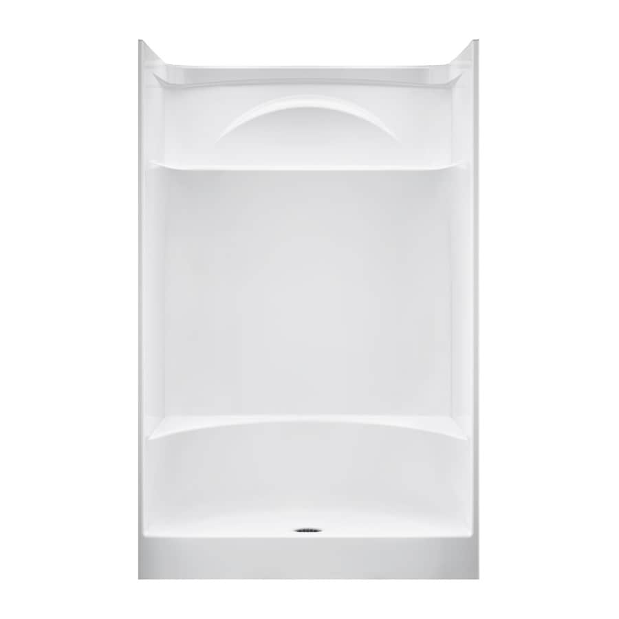 DELTA White Acrylic One-Piece Shower with Integrated Seat (Common: 36-in x 48-in; Actual: 76-in x 35.875-in x 47.875-in)