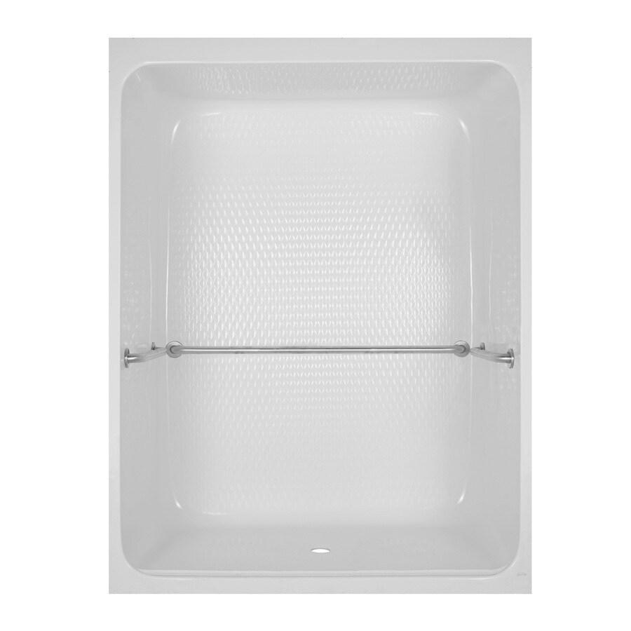Aqua Glass 84-in H x 36-1/2-in W x 64-in L Special Care White 1-Piece Shower
