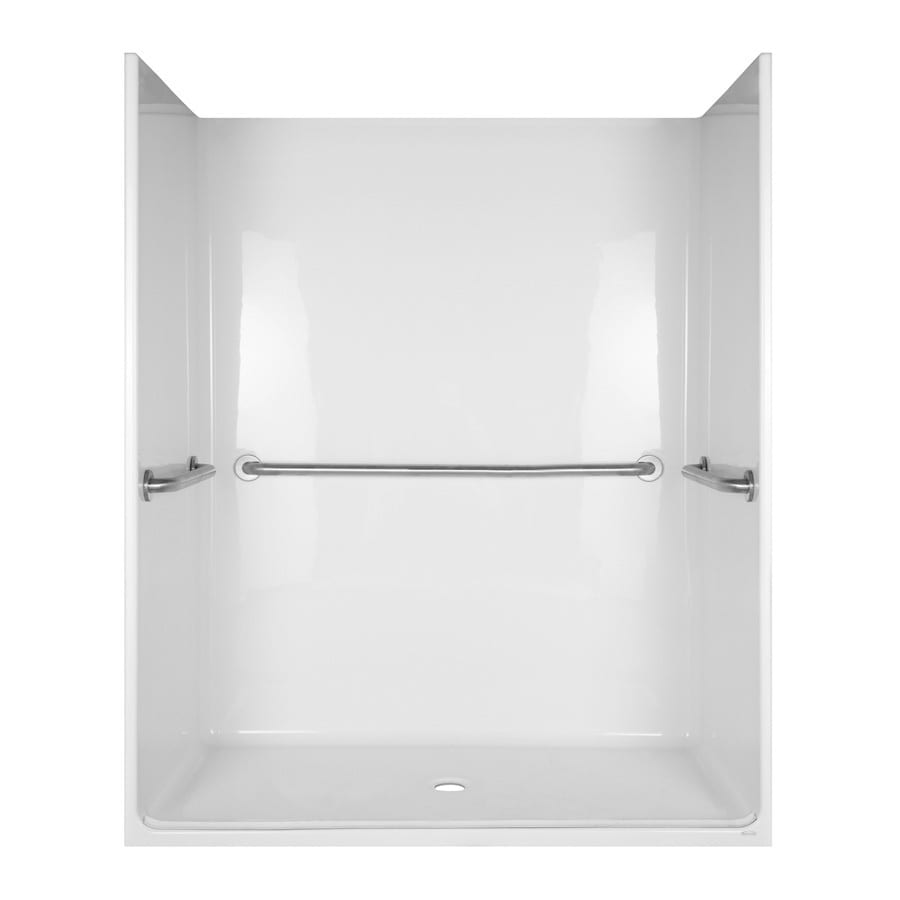 Aqua Glass 78-1/2-in H x 36-3/4-in W x 62-3/4-in L Special Care White 1-Piece Shower