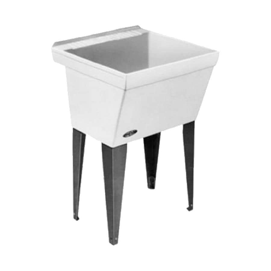 Composite Laundry Sink : ... White Freestanding Composite Tub Utility Sink with Drain at Lowes.com
