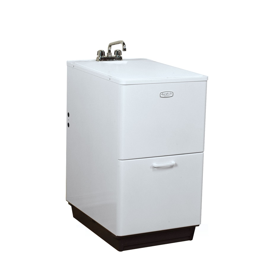 Freestanding Laundry Tub : ... Freestanding Polypropylene Tub Utility Sink with Drain at Lowes.com