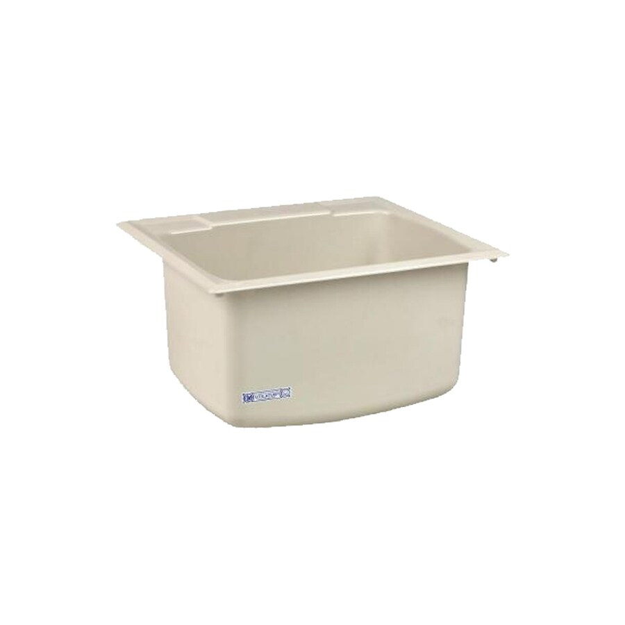 Composite Utility Sink : ... in x 22-in 1-Basin Biscuit Self-Rimming Composite Laundry Utility Sink
