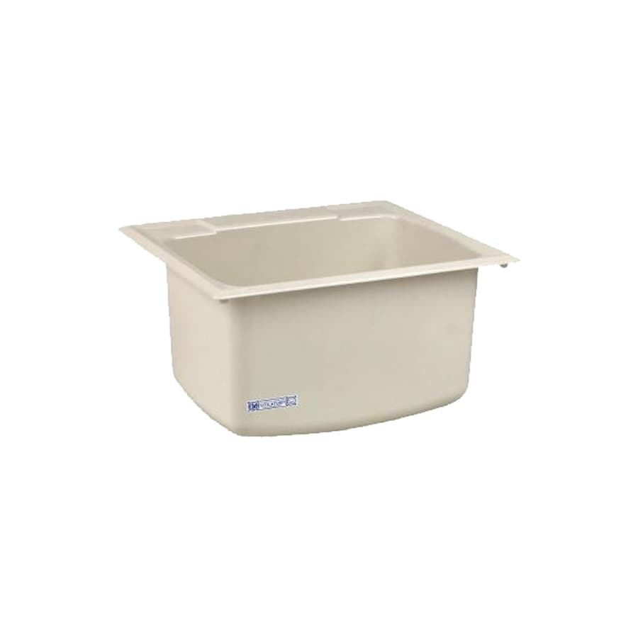 ... in x 22-in 1-Basin Biscuit Self-Rimming Composite Laundry Utility Sink