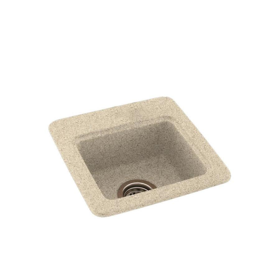 Swanstone Bermuda Sand Single-Basin 1-Hole Composite Drop-in or Undermount Residential Bar Sink