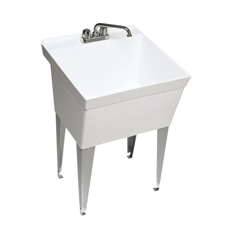 Swanstone White Composite Laundry Sink