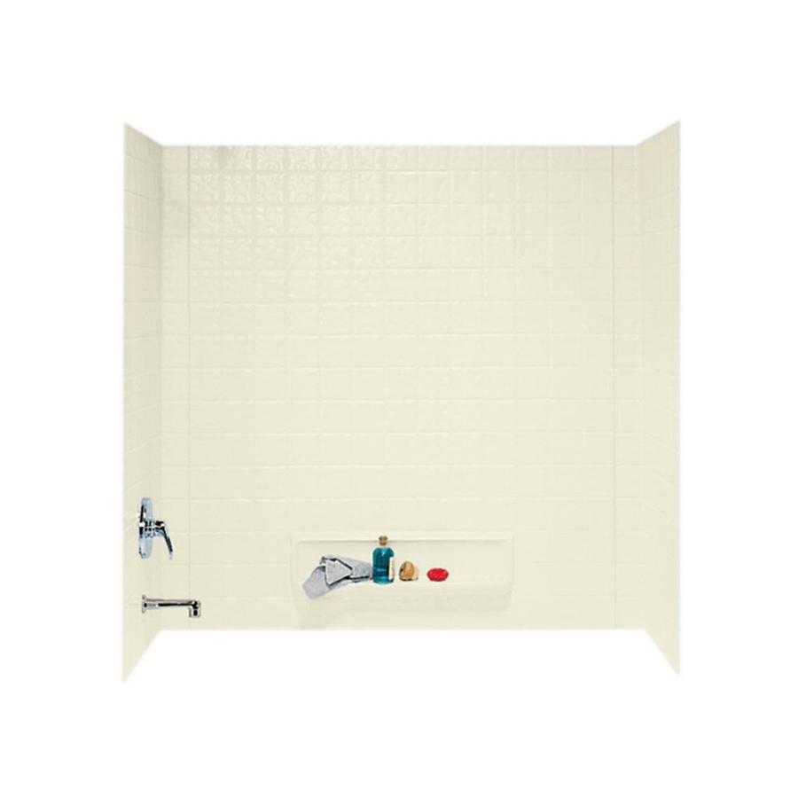 Swanstone Bone Fiberglass and Plastic Composite Bathtub Wall Surround (Common: 30-in x 60-in; Actual: 59.625-in x 30-in x 60-in)