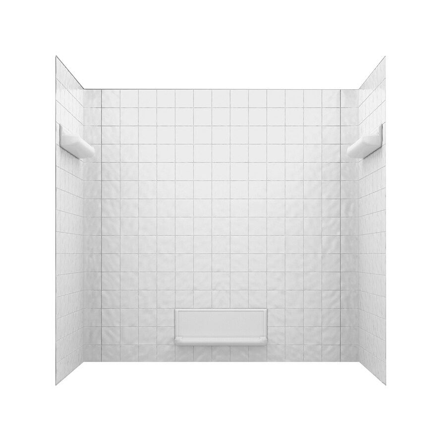 Swanstone Fiberglass and Plastic Composite Bathtub Wall Surround (Common: 32-in x 60-in; Actual: 59.625-in x 32-in x 60-in)