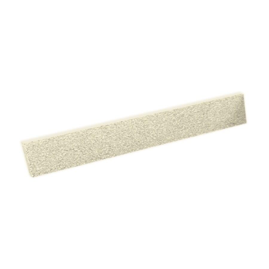 Swanstone 3-in H x 19-in L Bone Bathroom Side Splash