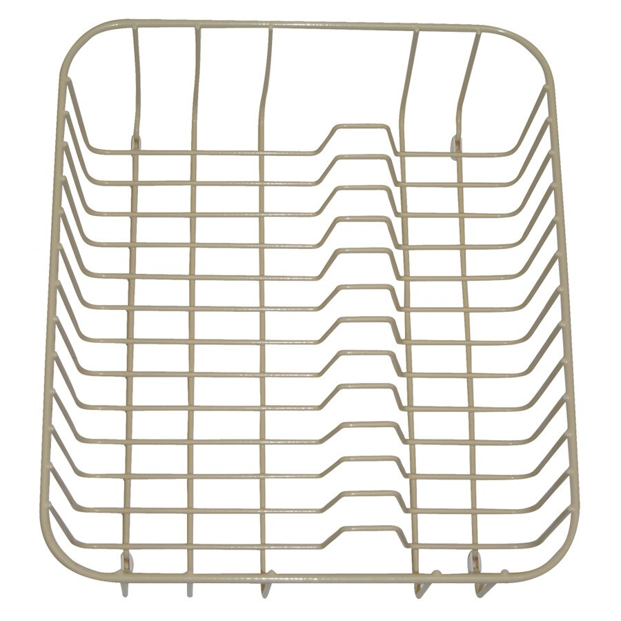Swanstone 12.25-in W x 14.25-in L x 5.25-in H Metal Dish Rack