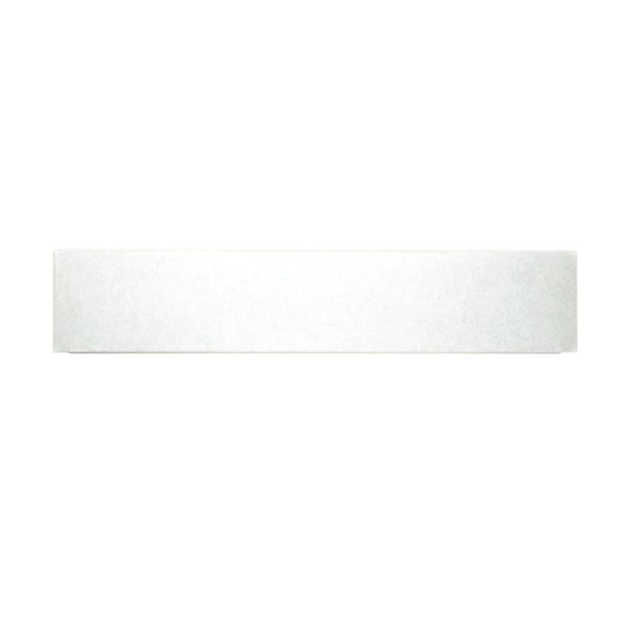 Swanstone White Fiberglass/Plastic Composite Shower Floor Ramp