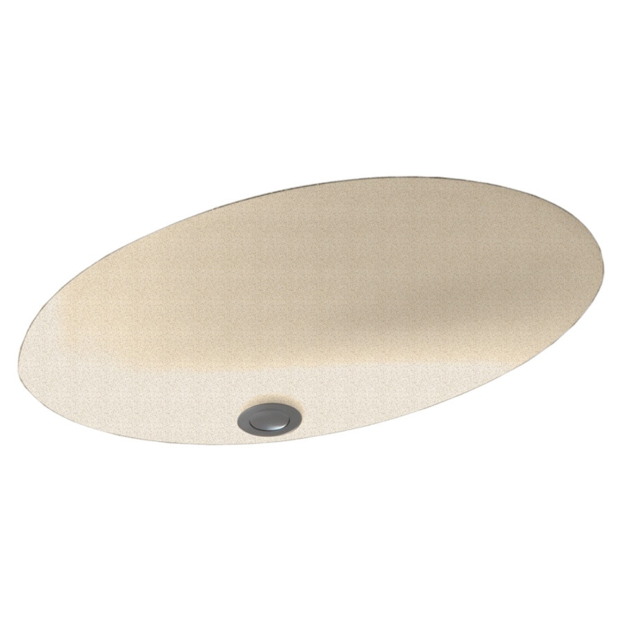 Shop Swanstone Almond Galaxy Composite Undermount Oval