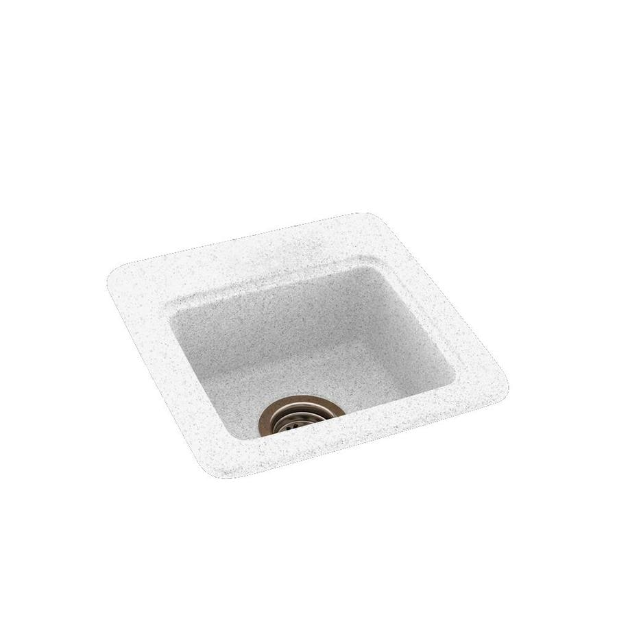 Swanstone Arctic Granite Single-Basin 1-Hole Composite Drop-in or Undermount Residential Bar Sink