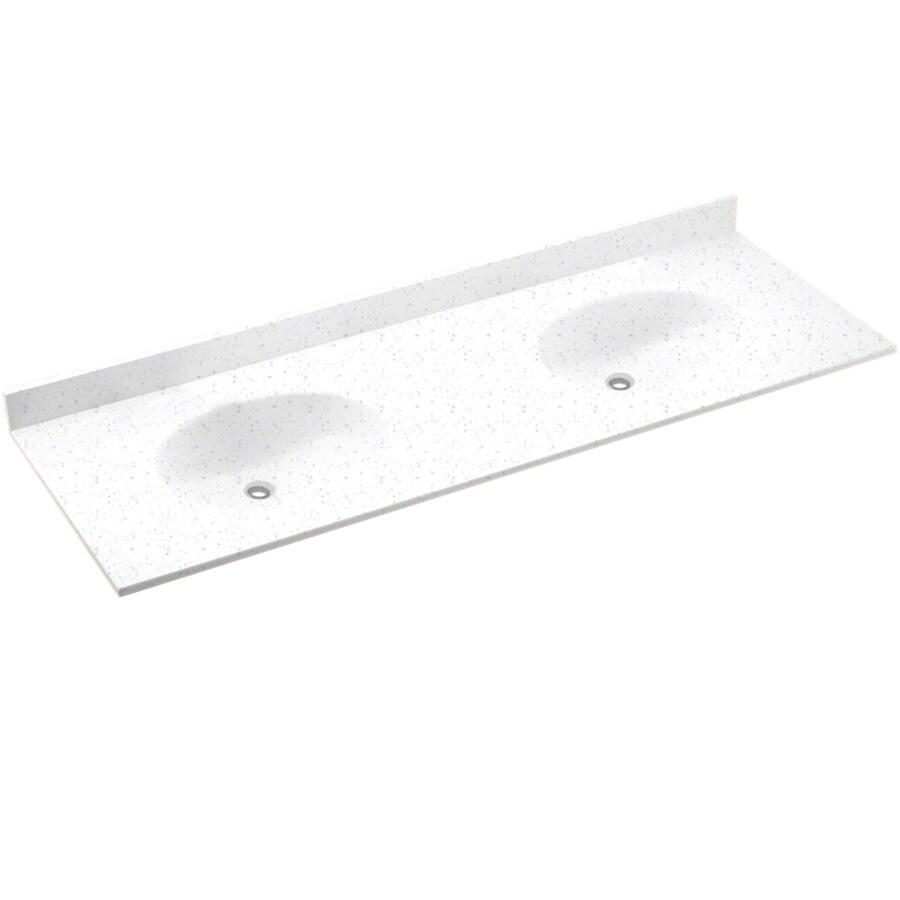 Swanstone Ellipse Solid Surface Bathroom Vanity Top (Common: 61-in x 22-in; Actual: 61-in x 22-in)