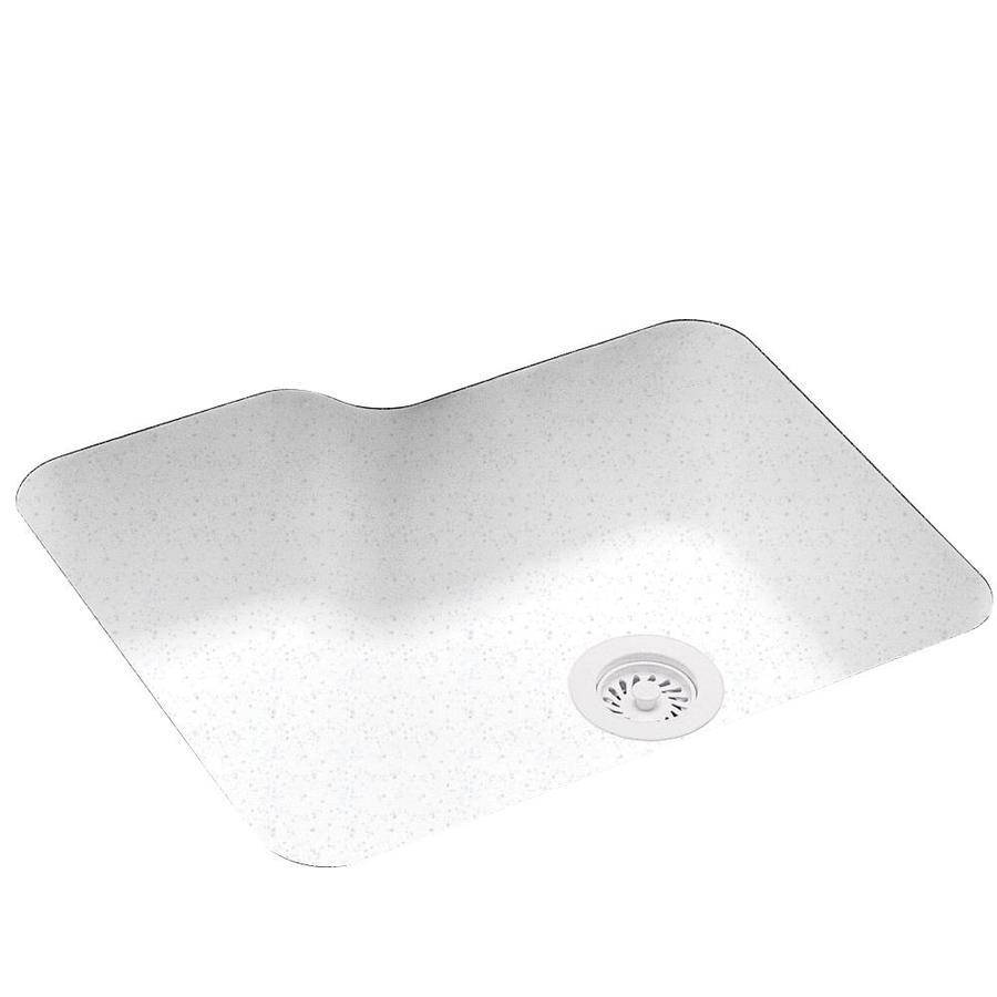 Swanstone 21.25-in x 25-in Arctic Granite Single-Basin Composite Undermount Residential Kitchen Sink