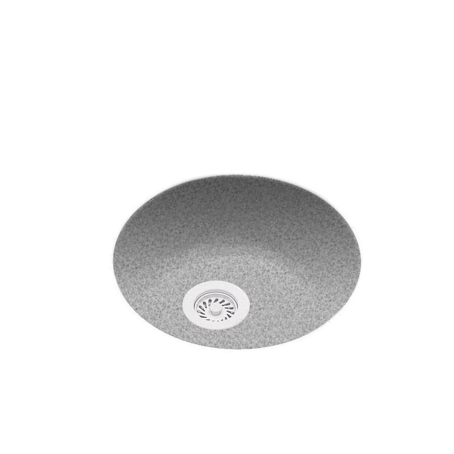 Swanstone 18.5-in x 18.5-in Gray Granite Single-Basin Composite Undermount Residential Kitchen Sink