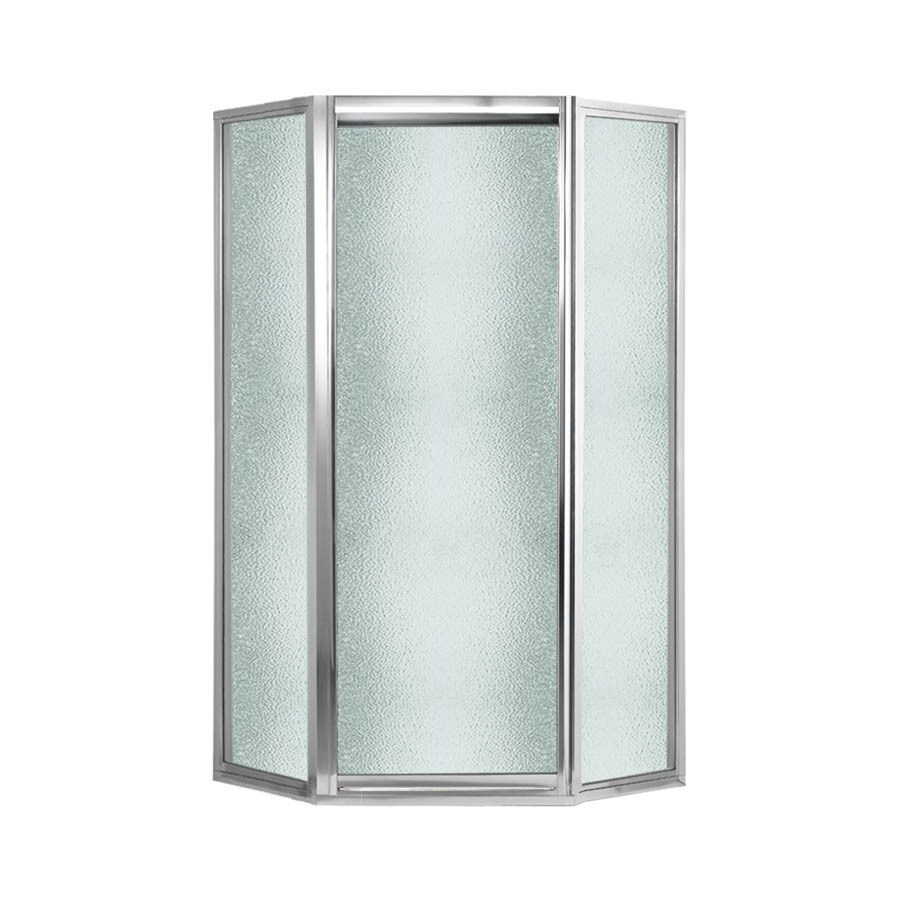 Swanstone 38-in W x 70-in H Polished Chrome Neo-Angle Shower Door