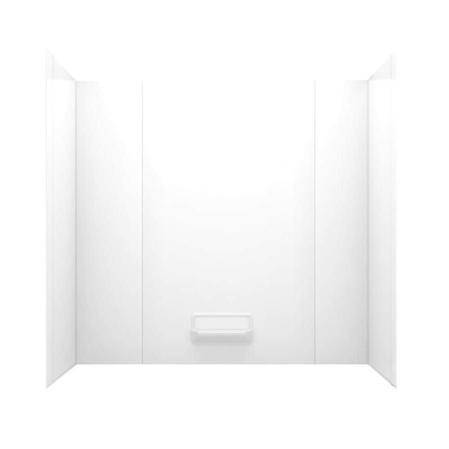 Swanstone White Fiberglass and Plastic Composite Bathtub Wall Surround (Common: 30-in x 60-in; Actual: 58-in x 30-in x 60-in)