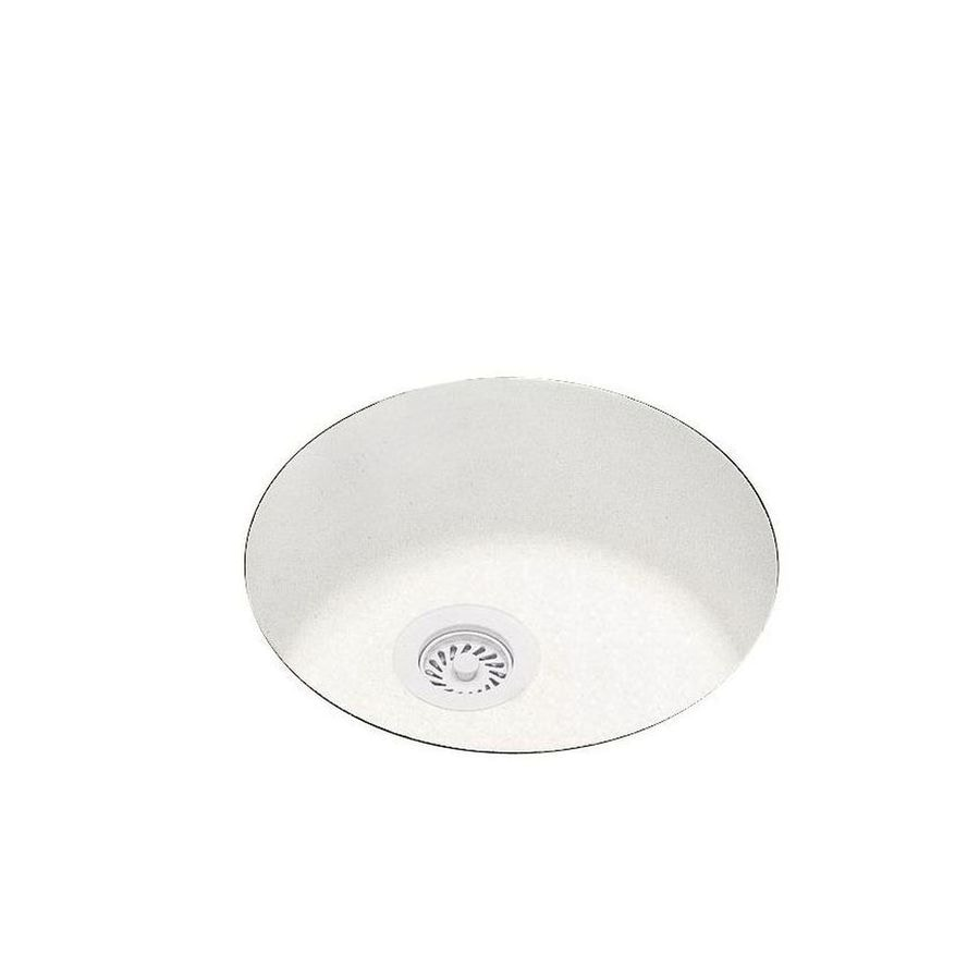 Swanstone 18.5-in x 18.5-in Tahiti Ivory Single-Basin Composite Undermount Residential Kitchen Sink