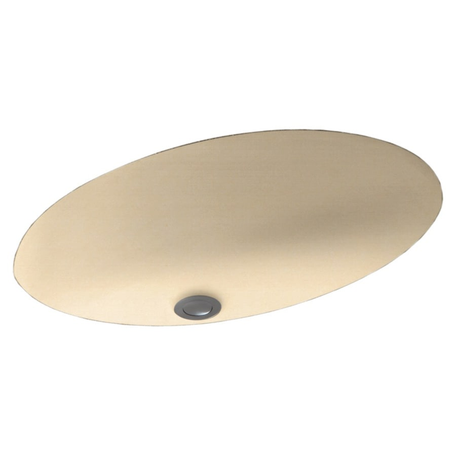 Swanstone Tahiti Terra Composite Undermount Oval Bathroom Sink with Overflow