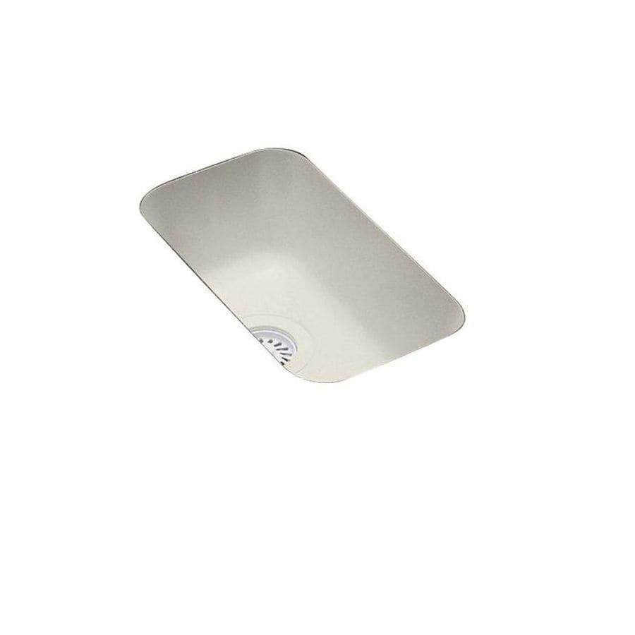 Swanstone Bisque Single-Basin Composite Undermount Residential Bar Sink