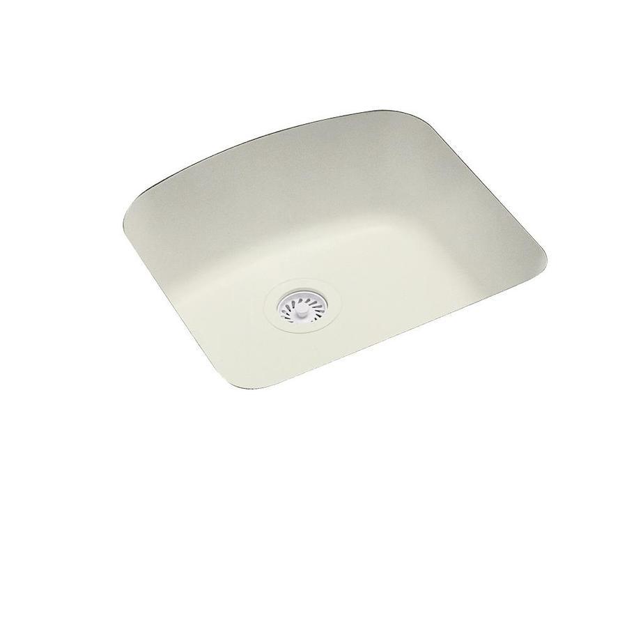 Swanstone 20.25-in x 21-in Bisque Single-Basin Composite Undermount Residential Kitchen Sink