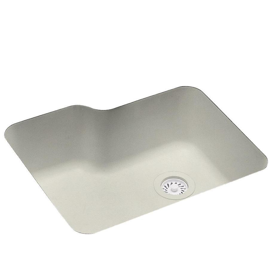 Swanstone 21.25-in x 25-in Bisque Single-Basin Composite Undermount Residential Kitchen Sink